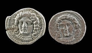 Greek Cilician Tarsus Silver Datames Stater Coins (2)