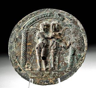 Rare & Fine Roman Gilded Bronze Mirror
