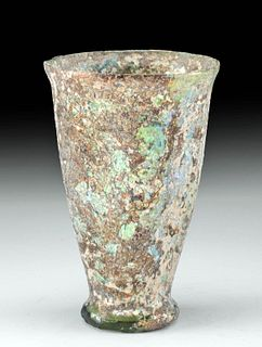 Roman Glass Footed Drinking Vessel