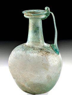 Roman Glass Pitcher w/ Elegant Trail Handle