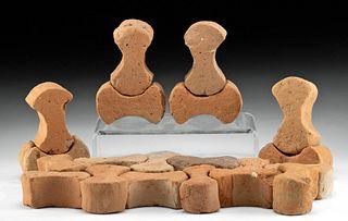 "20 Roman Terracotta ""Dog Bone"" Tiles"