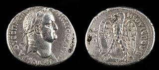Roman Antioch Vespasian Silver Tetradrachm