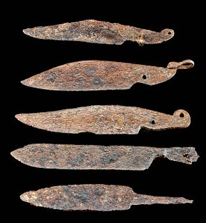 5 Viking / Medieval European Iron Knife Blades