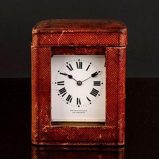 R & Co, Paris Brass Petite Sonnerie Carriage Clock