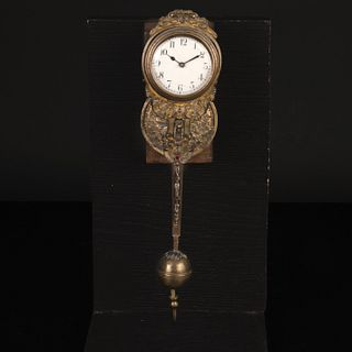 French A Verge Pendulum Watch with Stand, ca. 1800