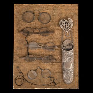 Group of Five Pairs of Antique Eyeglasses, ca. 1650-1850