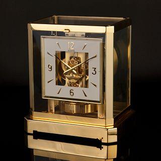 Jaeger LeCoultre A Gilt Brass Desk Clock, ca. 1985