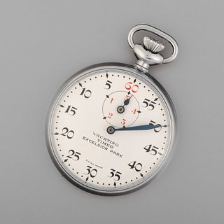 Excelsior Park, Stainless Steel and Enamel Chronograph Yachting Timer, ca. 1960