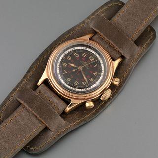 Mido, Rare Gold Plated MulticenterChrono Wristwatch, ca. 1945