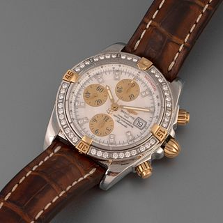 Breitling, Stainless Steel, Diamond and Yellow Gold Chronomat Evolution Wristwatch, ca. 2005