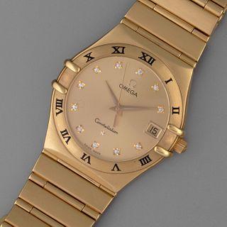Omega, Yellow Gold and Diamond Constellation Bracelet Watch, ca. 2000