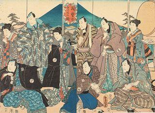 Utagawa Kunisada, 2 Woodblock Prints