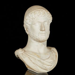 Roman Marble Bust of a Man with Cap