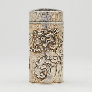 Japanese Sterling Dragon Muffineer