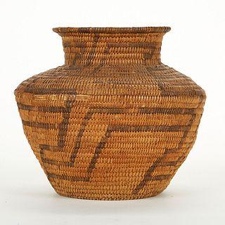 Early Apache Woven Basket