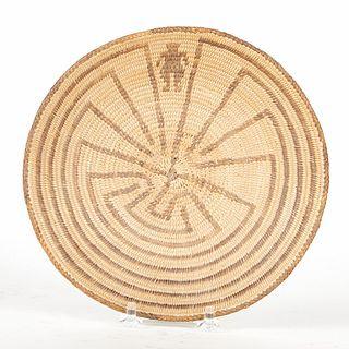 O'odham Pima Man in the Maze Basket