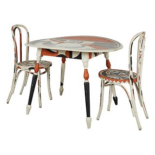Acoma Painted Table and Chairs