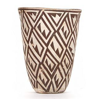 Acoma Pottery Beaker Form Vase
