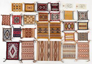 Grp: 24 Miniature Navajo Rugs