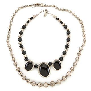 Grp: 2 Necklaces One Don Lucas Sterling