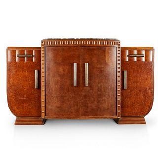 Jules Leleu Style Cabinet Sideboard