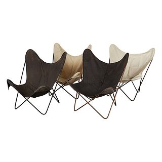 Set 4 Vintage Knoll B.F.K. Butterfly Chairs