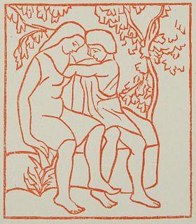 Aristide Maillol Woodcut Daphnis and Chloe