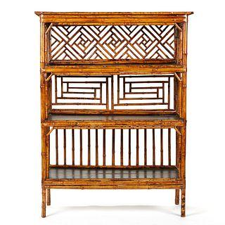 19th c. Chinese Bamboo Shelf