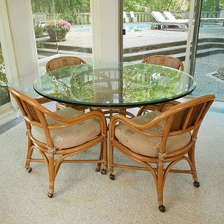 Bamboo Table w/ 6 Chairs