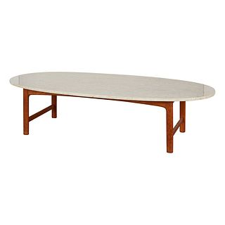 Marble Top Oval Coffee Table Dux of Sweden