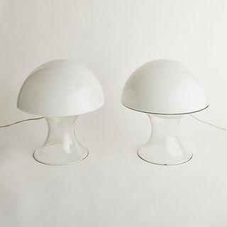 Pr: Murano Glass Mushroom Lamps - After Gino Vistosi