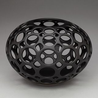 Pierced Openwork Orb-Black