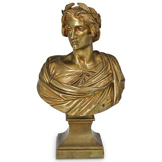 19th Cent. Greco Roman Bronze Bust