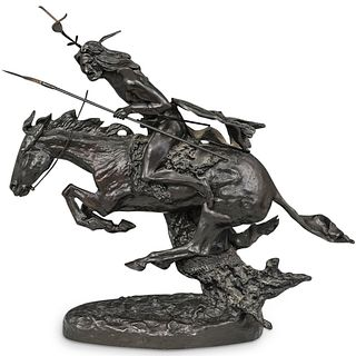 """After Frederic Remington """"Native Rider"""" Bronze"""