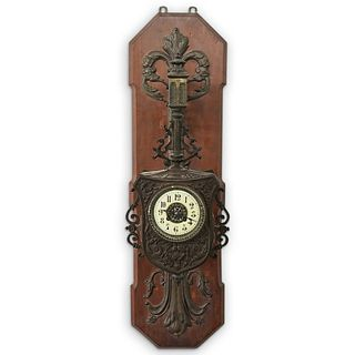 Antique Japy Freres Wall Clock Movement