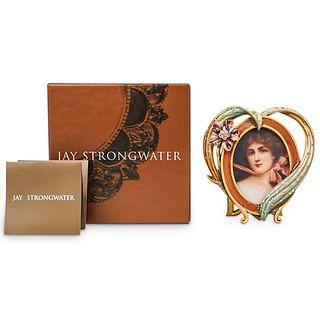 Jay Strongwater Enameled Oval Photo Frame