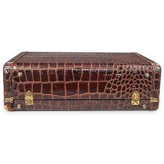 Samsonite Faux Alligator Skin Luggage Travel Suitcase