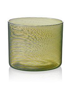 """Rocks"" drinking glass (yellow/green)"