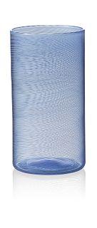 """Tall"" drinking glass (blue)"