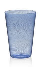 """""""Beer"""" drinking glass (blue)"""
