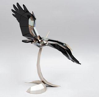 Wings of liberty. Austria, sXX. Elaborado en cristal Swarovski. Con caja original, certificado y guantes. 26 cm de altura.