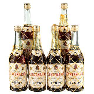 Terry. Centenario. Brandy. España. Piezas: 6. En presentación de 750 ml.