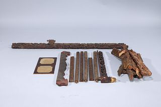 Large Group of Various Japanese Wood Architectural Elements