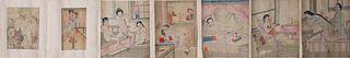 Large Japanese Shunga Hand Scroll