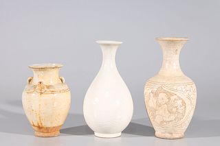 Group of Three Chinese Early Style Ceramics