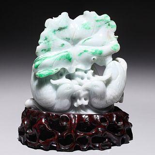 Chinese Jadeite Bird Group