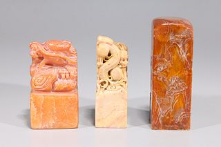 Group of Three Chinese Carved Seals