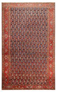 ANTIQUE PERSIAN HERIZ RUG. 14 ft 2 in x 8 ft 8 in (4.31m x 2.64m).