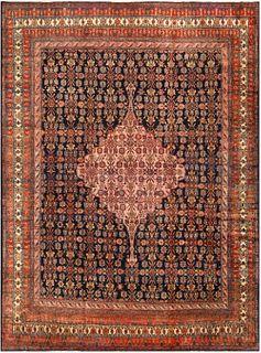 ANTIQUE FINE NORTHWEST PERSIAN CARPET. 14 ft x 10 ft 6 in (4.27 m x 3.2 m).