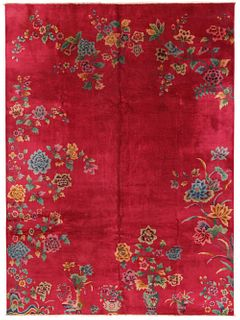 ANTIQUE CHINESE CARPET - No reserve. 11 ft 4 in x 8 ft 7 in (3.45m x 2.61m)